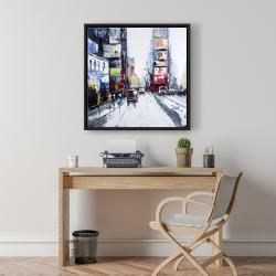 Framed 24 x 24 - Time square