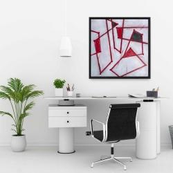Framed 24 x 24 - Red outlines shapes