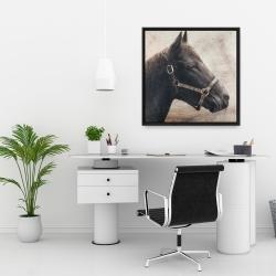 Encadré 24 x 24 - Gallopin le cheval brun