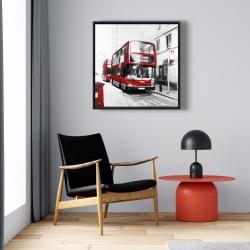 Framed 24 x 24 - Red bus londoner