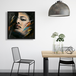 Framed 24 x 24 - Abstract woman portrait