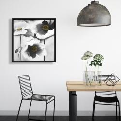 Encadré 24 x 24 - Fleurs en noir et black