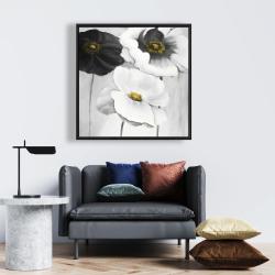 Framed 24 x 24 - Assorted white flowers