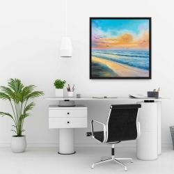 Framed 24 x 24 - Breathtaking tropical sunset