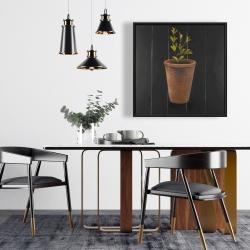 Framed 24 x 24 - Plant of marjolaine