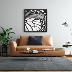 Framed 24 x 24 - Butterfly wings closeup
