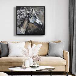 Framed 24 x 24 - Side of a wild horse