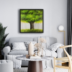 Framed 24 x 24 - Big green tree