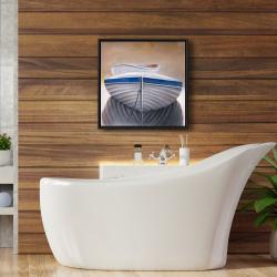 Framed 24 x 24 - Two canoe boats