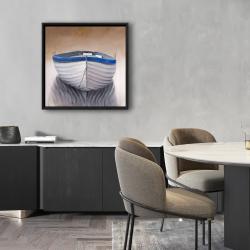 Framed 24 x 24 - Canoe boat