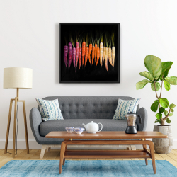 Framed 24 x 24 - Colorful carrots