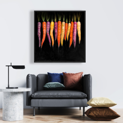 Framed 24 x 24 - Carrots varieties