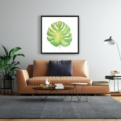 Framed 24 x 24 - Tropical leaf