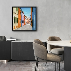 Framed 24 x 24 - Colorful houses in italy