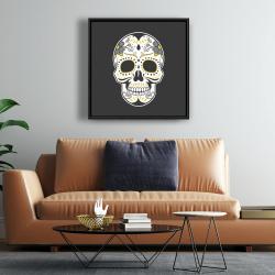 Framed 24 x 24 - Mexican sugar skull art