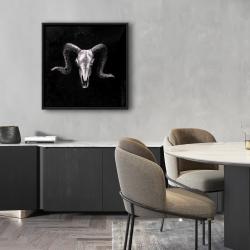 Framed 24 x 24 - Ram skull grunge style
