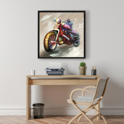 Framed 24 x 24 - Abstract motorcycle