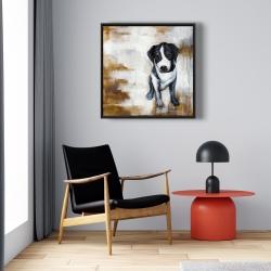 Framed 24 x 24 - Sitting dog