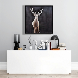 Framed 24 x 24 - Lonely deer