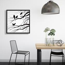Framed 24 x 24 - Silhouette of birds