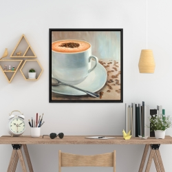 Framed 24 x 24 - Cappuccino time