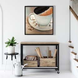 Framed 24 x 24 - Black coffee