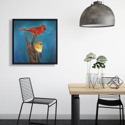 Framed 24 x 24 - Birds on a branch