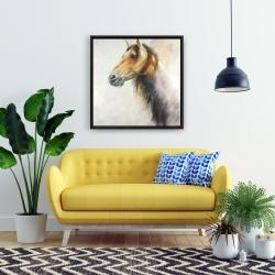 Framed 24 x 24 - Wild horse