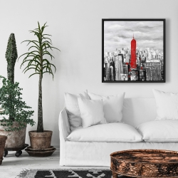 Framed 24 x 24 - Empire state building of new york