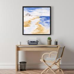 Framed 24 x 24 - House on the beach