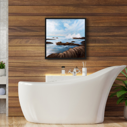 Framed 24 x 24 - Seaside storm