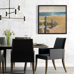 Framed 24 x 24 - Quiet seaside