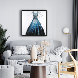 Framed 24 x 24 - Blue princess dress
