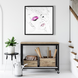 Framed 24 x 24 - Pink makeup