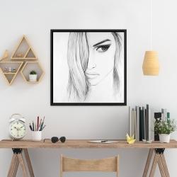Framed 24 x 24 - Black & white portrait