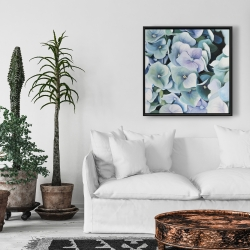Framed 24 x 24 - Hydrangea plant