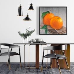Framed 24 x 24 - Two oranges