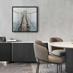 Framed 24 x 24 - Old abandoned bridge