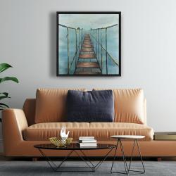 Framed 24 x 24 - Old and dangerous bridge
