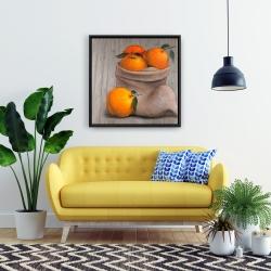 Framed 24 x 24 - Bag of oranges
