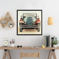 Framed 24 x 24 - Old 1920s luxury car