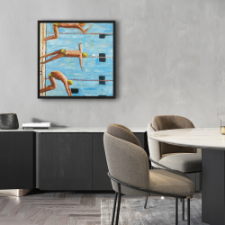 Framed 24 x 24 - Swimmers