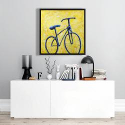 Framed 24 x 24 - Blue bike abstract