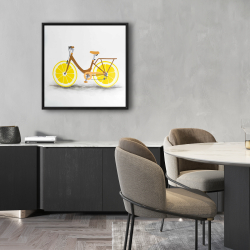 Framed 24 x 24 - Lemon wheel bike
