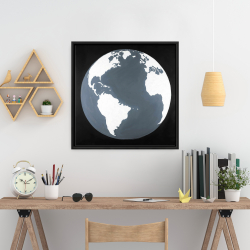 Framed 24 x 24 - Earth satellite view