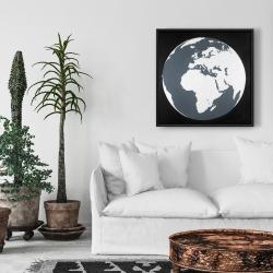 Framed 24 x 24 - Earth