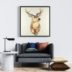 Framed 24 x 24 - Deer portrait
