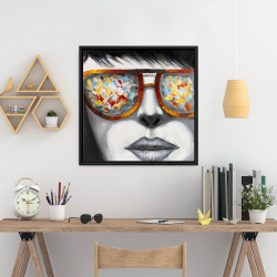 Framed 24 x 24 - Colorful sunglasses