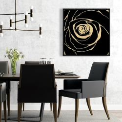 Framed 24 x 24 - Black rose