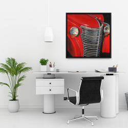 Framed 24 x 24 - 50's car grid closeup